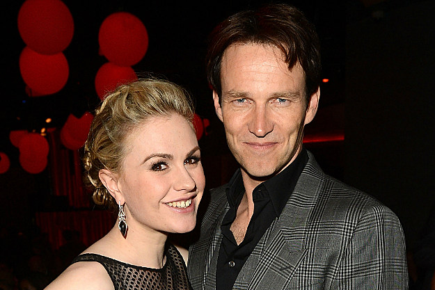 New parents Anna Paquin and Stephen Moyer at the premier of 'True Blood'
