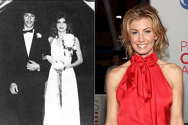 Faith Hill was attacked by a corsage at her prom