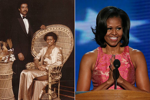 Michelle Obama was not likely known as a style icon in her school after wearing that dress