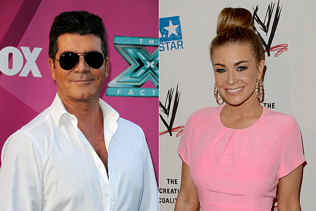 We can only hope that Simon Cowell enjoyed his dinner with Carmen Electra.