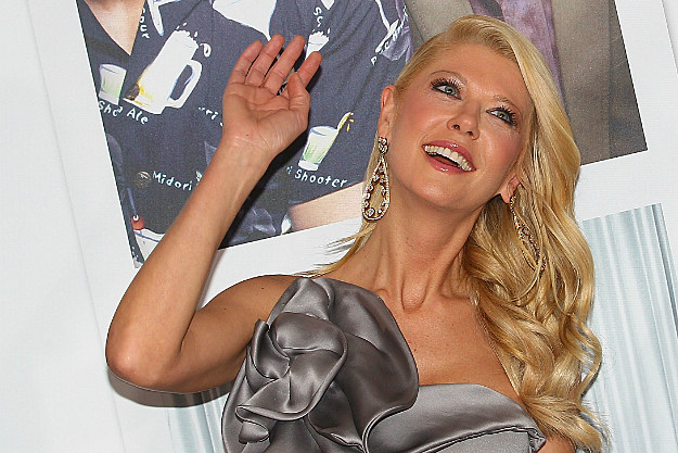 Tara Reid flails at a premier of 'American Pie Reunion'