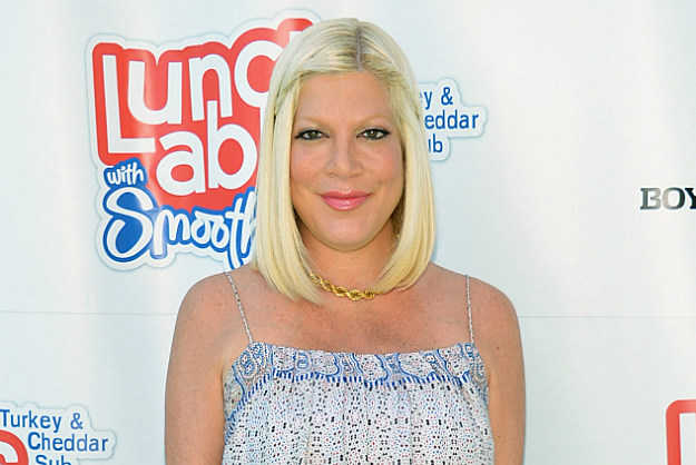Tori Spelling is hospitalized for emergency surgery after a c-section.