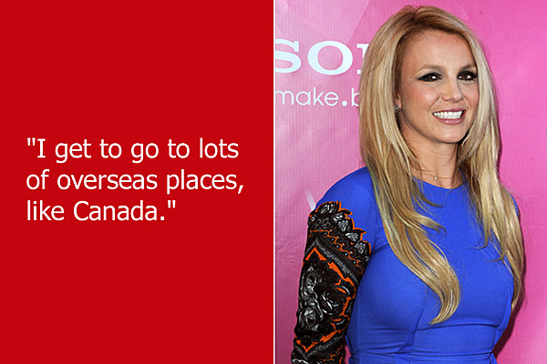 Britney Spears Tour 2018 >> Dumb Celebrity Quotes – Britney Spears