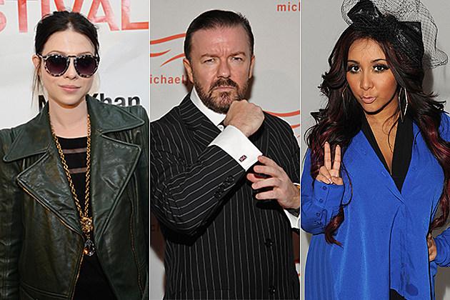 Michelle Trachtenberg, Ricky Gervais, Snooki
