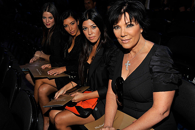 Khloe, Kim, and Kourtney Kardashian and Kris Jenner