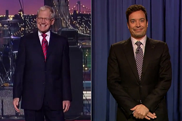 David Letterman and Jimmy Fallon taped their shows with no audience.