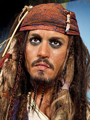 Johnny Depp wax figure