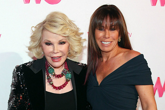 Joan and Melissa Rivers were mistaken for illegal aliens in the UK.