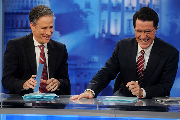 Jon-Stewart-Stephen-Colbert-by-Brad-Barket-Getty