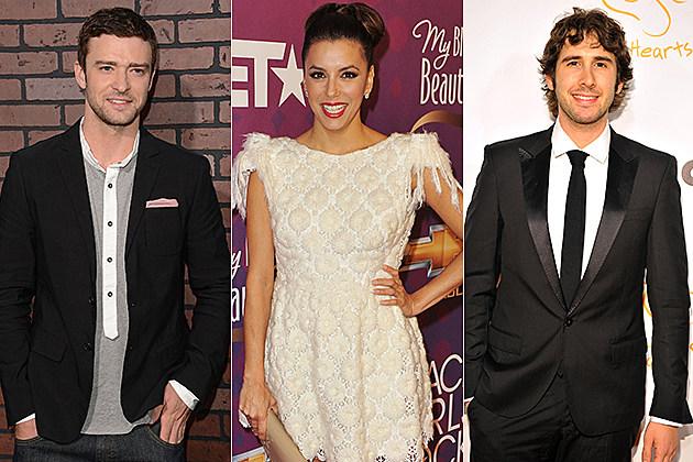 Justin Timberlake, Eva Longoria, Josh Groban