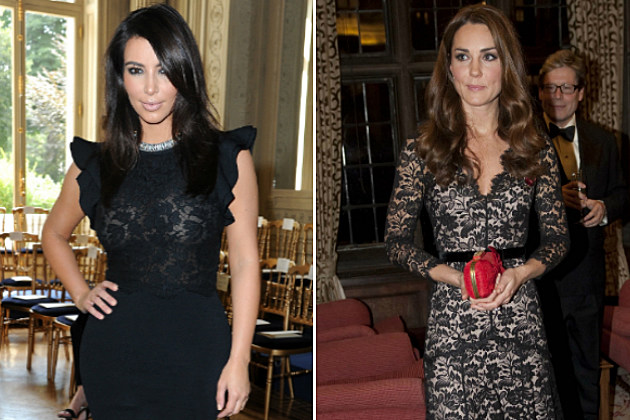 Kim Kardashian tries to be besties with Kate Middleton by sending her free clothes.