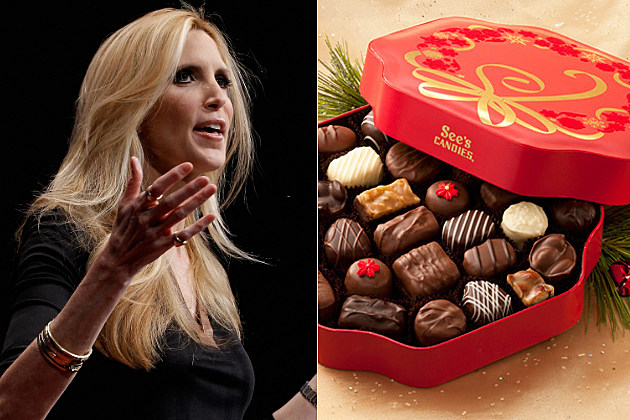 Ann Coulter thinks See's Candy and Warren Buffet are ruining Christmas.