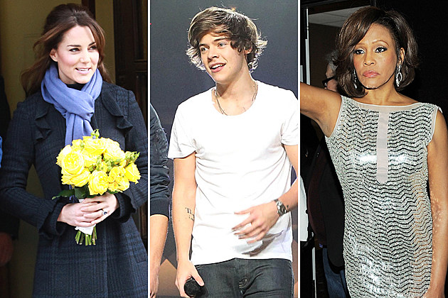 Kate Middleton Harry Styles One Direction Whitney Houston