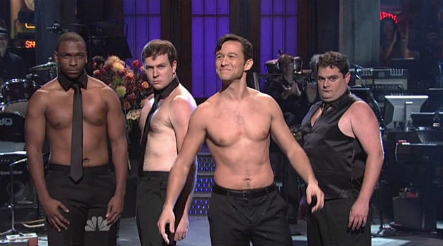 Joseph Gordon-Levitt SNL shirtless Magic Mike