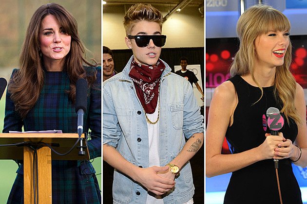 Kate Middleton Justin Bieber Taylor Swift