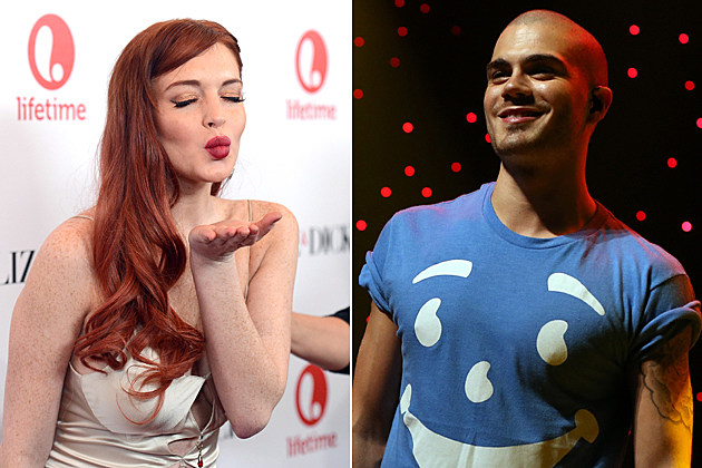 Lindsay Lohan Max George the Wanted