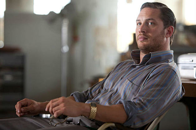 Tom Hardy in a very lucky desk chair
