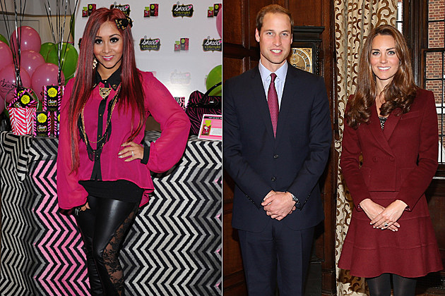 Snooki, Prince William, Kate Middleton