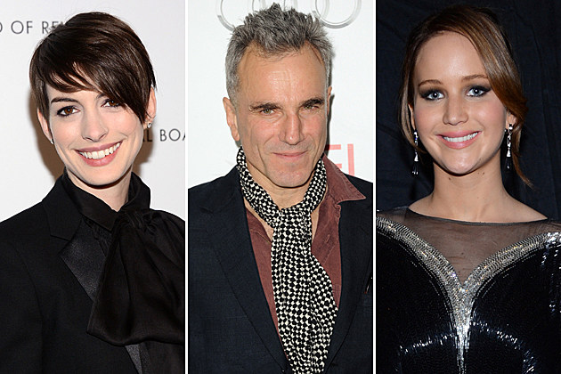 Anne Hathaway Daniel Day-Lewis Jennifer Lawrence