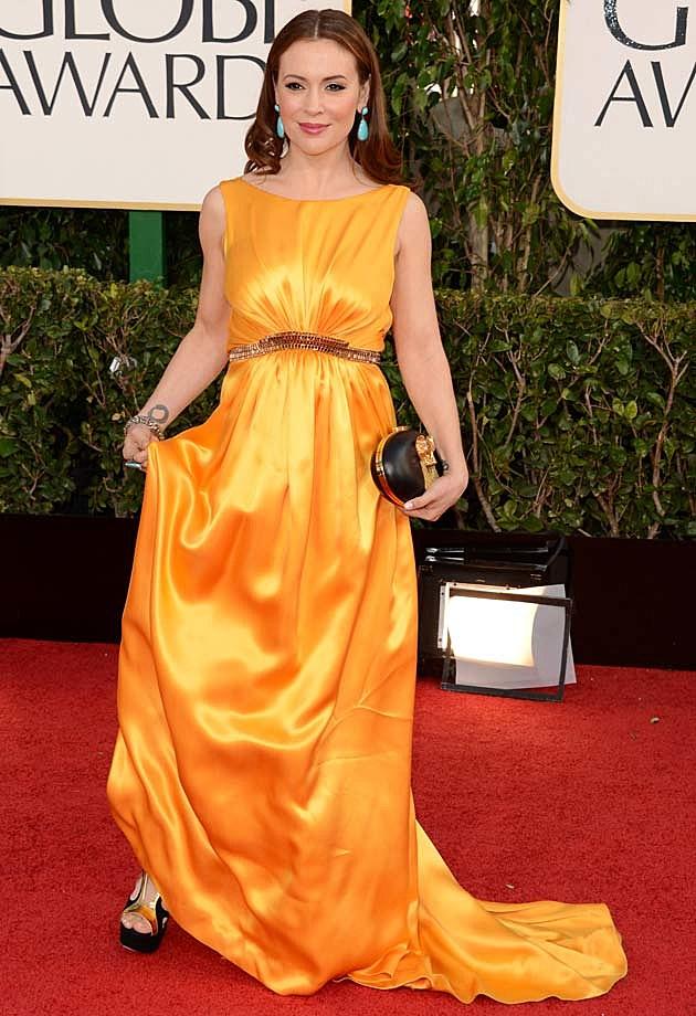 Alyssa Milano Golden Globes 2013