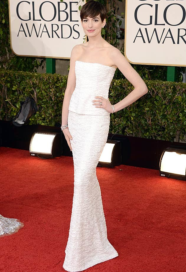 Anne Hathaway Golden Globes 2013