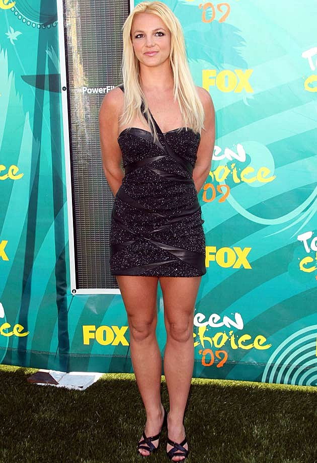 Britney Spears in Black Cavalli