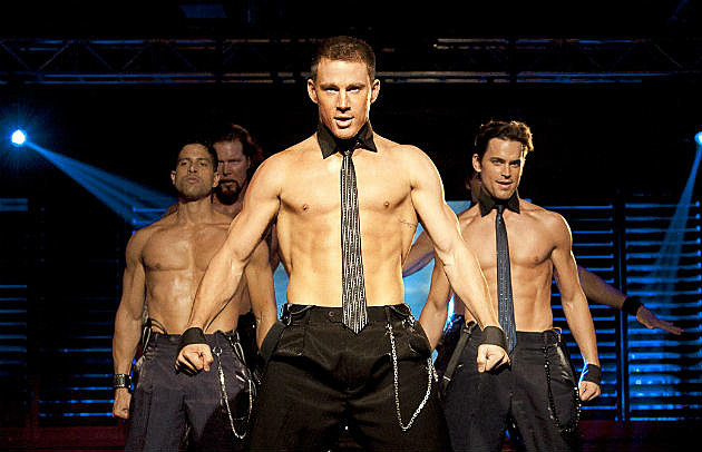 Channing Tatum shirtless stripping Magic Mike