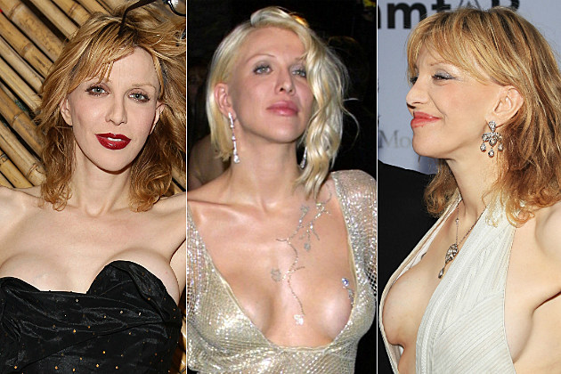 Courtney love boob job