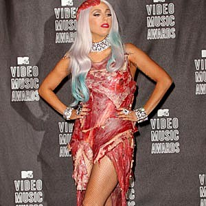 Lady Gaga Meat Dress VMAs