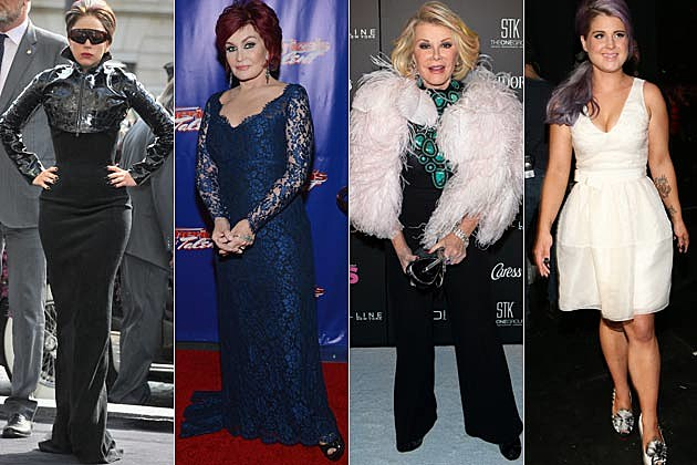Lady Gaga Sharon Osbourne Joan River Kelly Osbourne