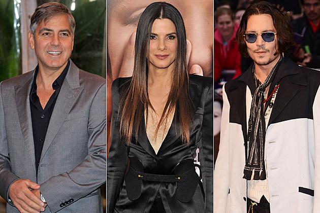 George Clooney Sandra Bullock Johnny Depp