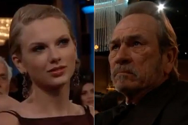Taylor Swift and Tommy Lee Jones did a great job of acting not happy at the Golden Globes.