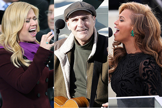 Kelly Clarkson, James Taylor, Beyonce perform at the inauguration