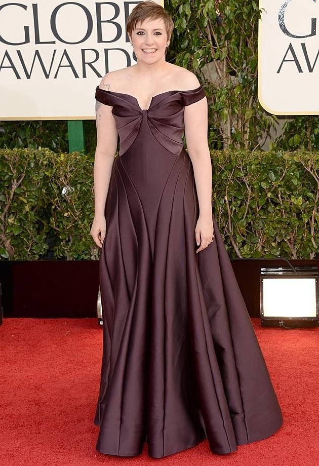 Lena Dunham 2013 Golden Globes