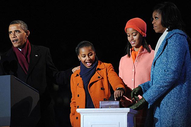 Barack Obama Sasha Obama Malia Obama Michelle Obama