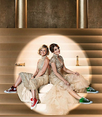 Amy Poehler and Tina Fey look super hot in Converse and couture.