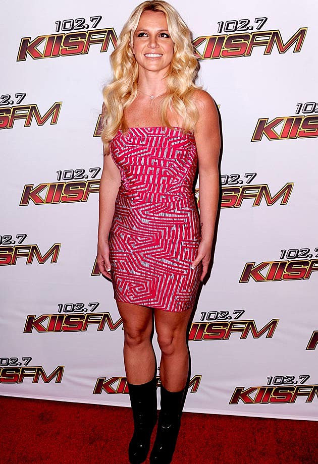 Britney Spears in Herve Leger