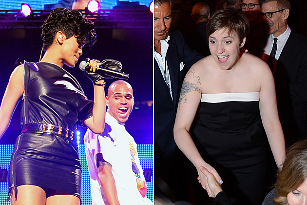 Rihanna Chris Brown Lena Dunham