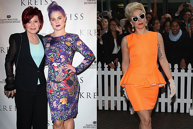 Sharon Osbourne Kelly Osbourne Lady Gaga