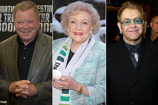William Shatner Betty White Elton John