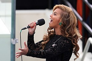 Beyonce Singing the National Anthem