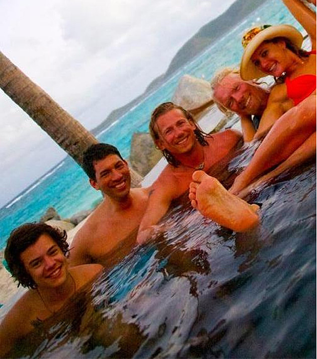 Harry Styles on Necker Island