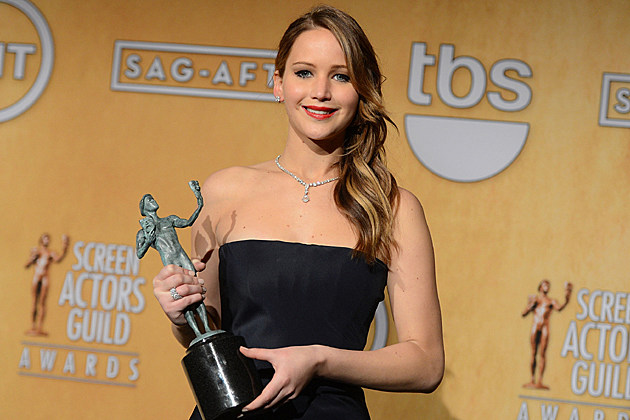 Jennifer Lawrence at the 2013 Screen Actors Guild Awards