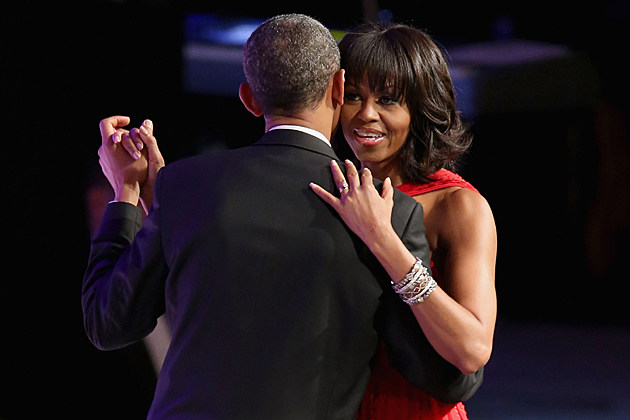 Michelle Obama in red Jason Wu at the 2013 Inaugural Ball