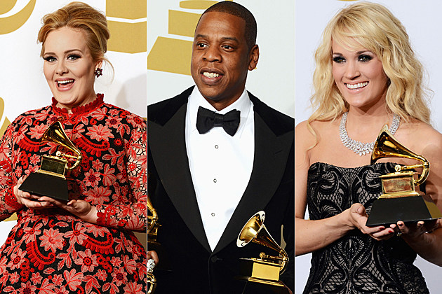 Adele Jay-Z Carrie Underwood