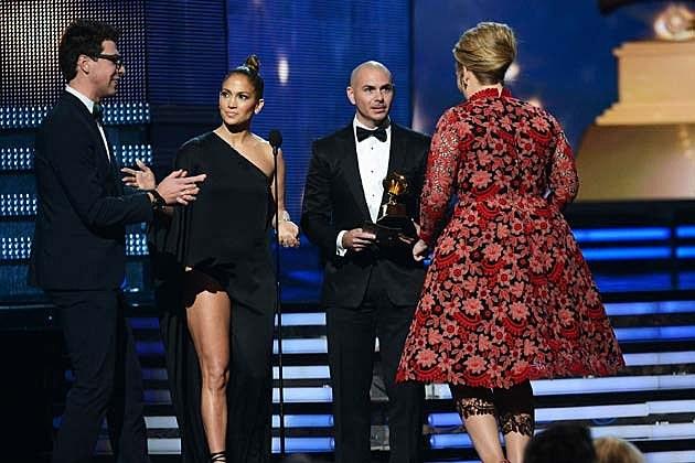 Jennifer Lopez Pitbull Adele Grammys 2013