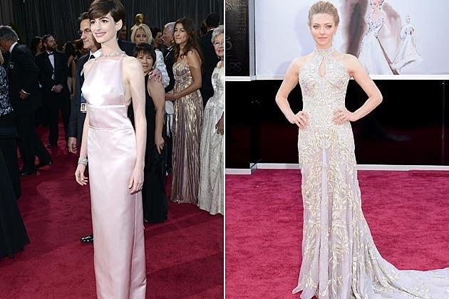 Anne Hathaway Amanda Seyfriend 2013 Oscars