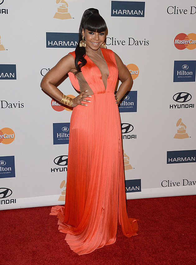 Ashanti at the Clive Davis Pre-GRAMMY Party