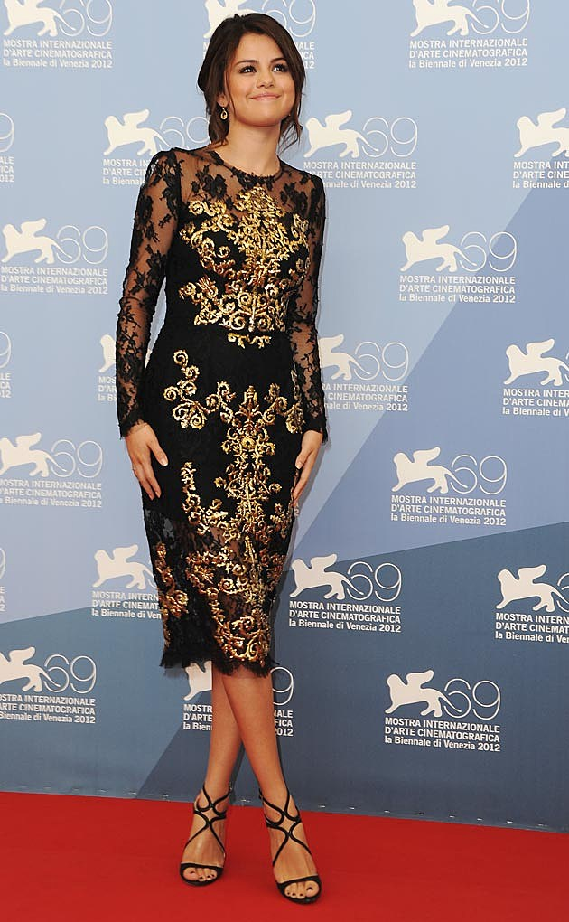 Selena Gomez Dolce & Gabbana Brocade