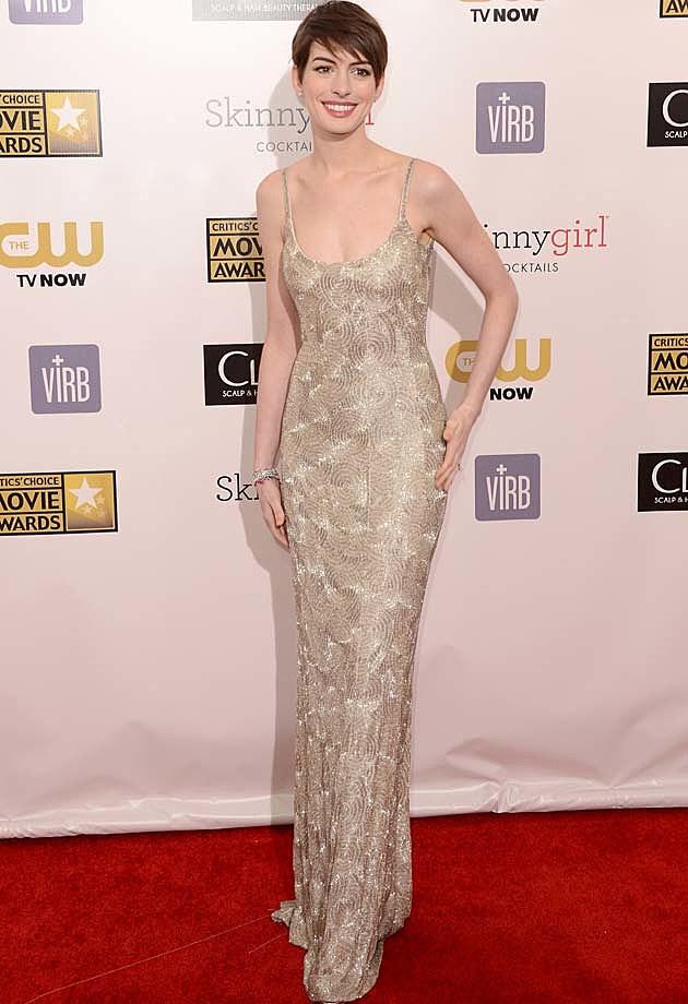 Anne Hathaway Oscar de la Renta
